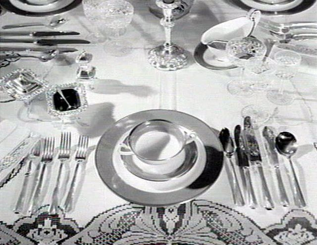 1930 S Table Setting For A Formal Evening The World Of