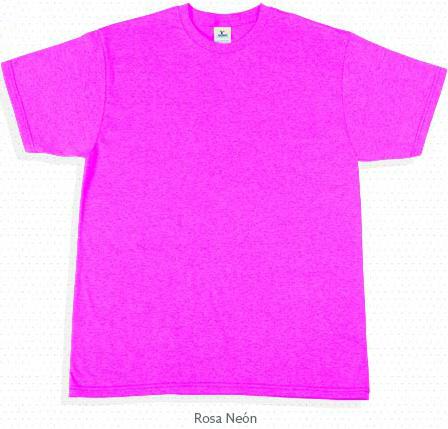 Playera rosa neon cuello redondo manga corta. PlayerasOki e8ca36e1f98e9