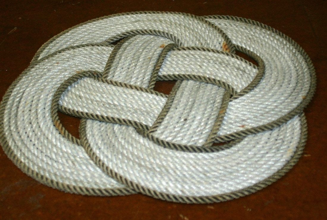 Diy Rugs  How To Make Your Own Rope Rug Nautical Rope Rug -2648
