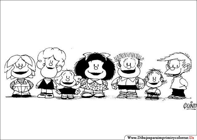 Dibujos de Mafalda para Imprimir y Colorear | Mi Amiga MAFALDA ...