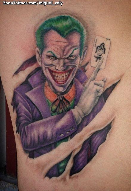 Tatuaje De Joker Cómics Cine Dibujos Coringa Arlequina