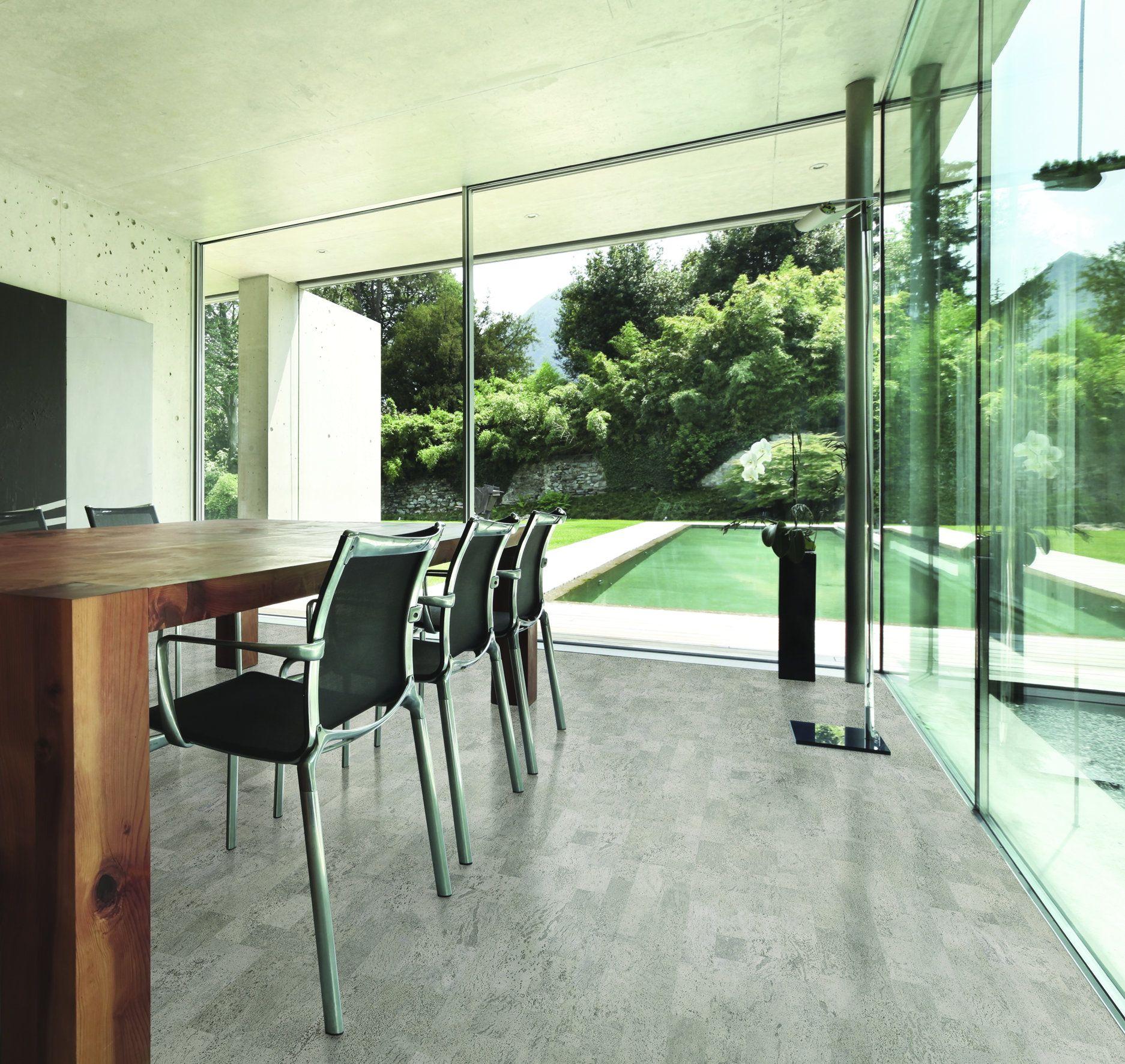 Grey Cork Flooring Kitchen: Kamštinė Grindų Danga Silver