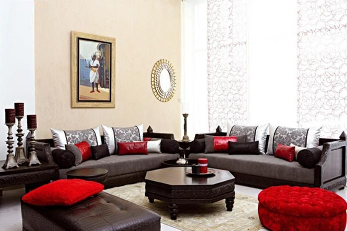 avoir un salon moderne avec un design marocain salon. Black Bedroom Furniture Sets. Home Design Ideas