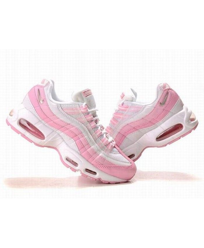separation shoes b555e b8ef4 Nike Air Max 95 Original Pink White Trainers