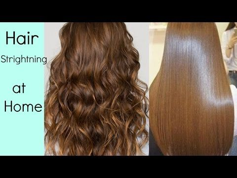 Hair Straightening At Home Without Hair Straightener Heat Hindi Youtube In 2020 Frizzy Hair Tips Hair Straightening Treatment Straighten Hair Without Heat