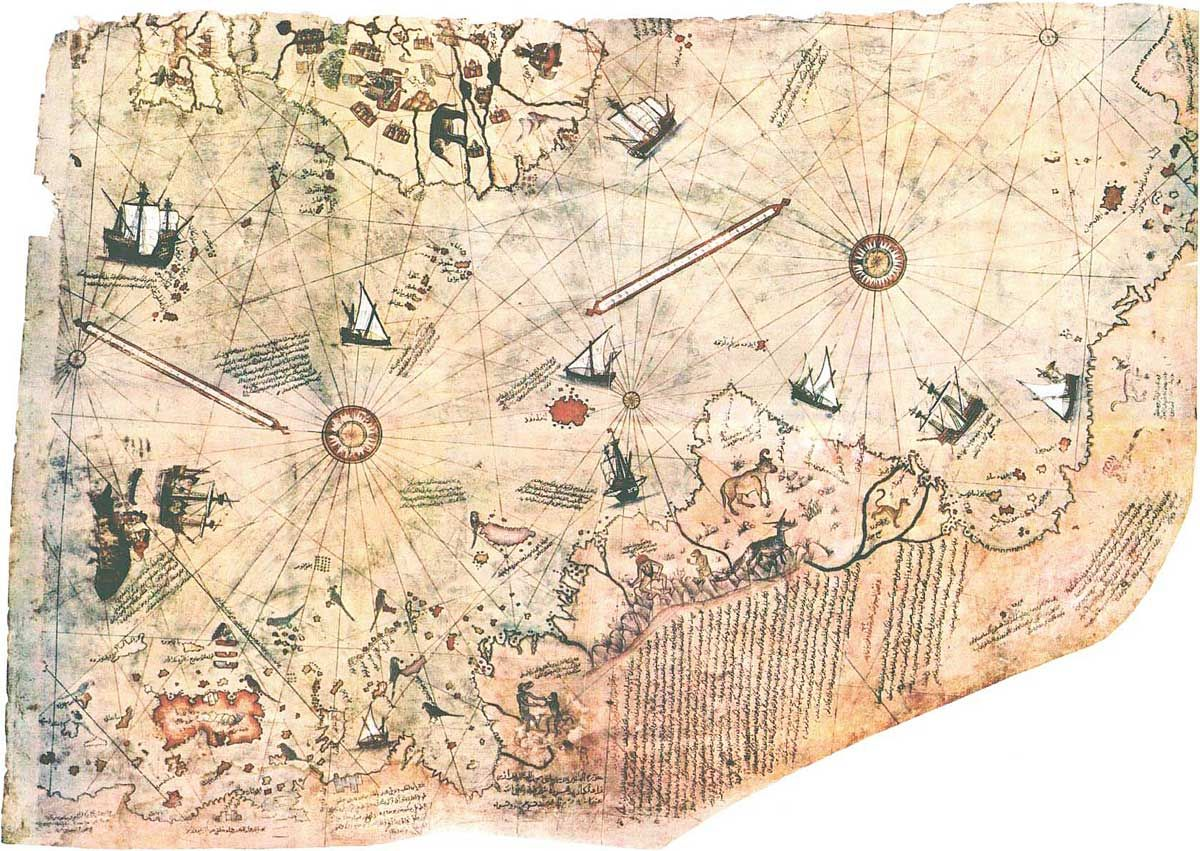 Ancient Maps Shows An Antarctica Ice Free Circa  Historical - Early maps of america