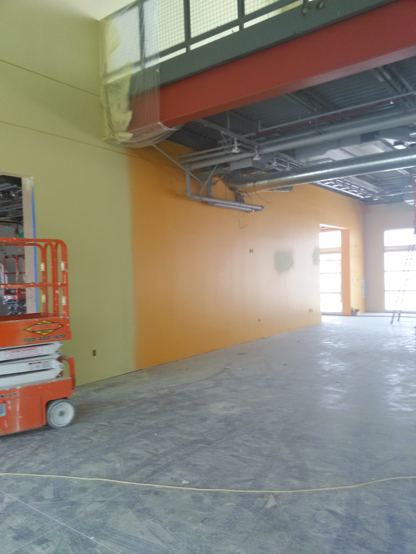 Let the painting begin! Construction is on time and looking good.