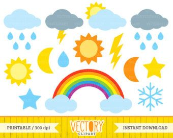 weather digital clipart for teachers clouds clipart sun clipart rh pinterest com au  free digital clipart for teachers