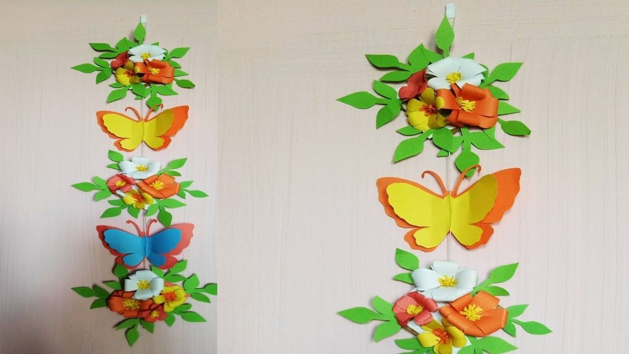 How To Make Wall Decoration With Paperdiy Home Decor Ideas