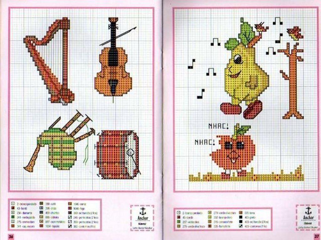 Solo Patrones Punto Cruz | Cross stitch music, Cross stitch and Stitch