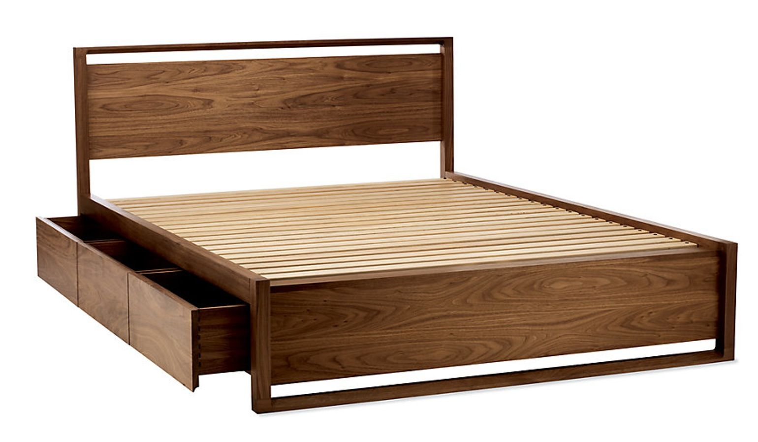 Matera Bed With Storage Industrial, MidCentury Modern
