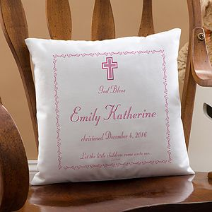 Personalized baby baptism keepsake pillow 14 personalised baptism day personalized baby pillow negle Gallery
