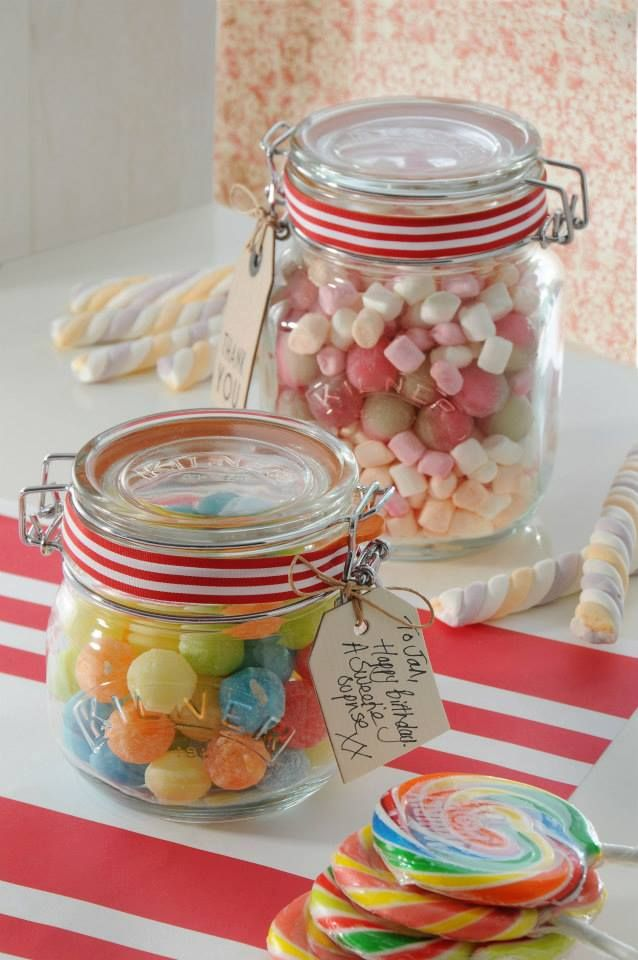 Candy Jar Decorations Fill A Kilner Jar With Sweets Attach A Tag And Your Gift Is Ready