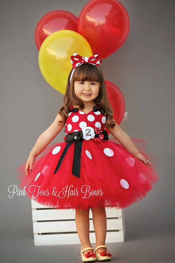 Red Minnie Mouse Tutu dress- Classic red Minnie Mouse tulle dress ...