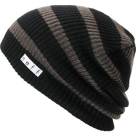 7f43952bab686 Neff Daily Black   Charcoal Stripe Beanie at Zumiez   PDP