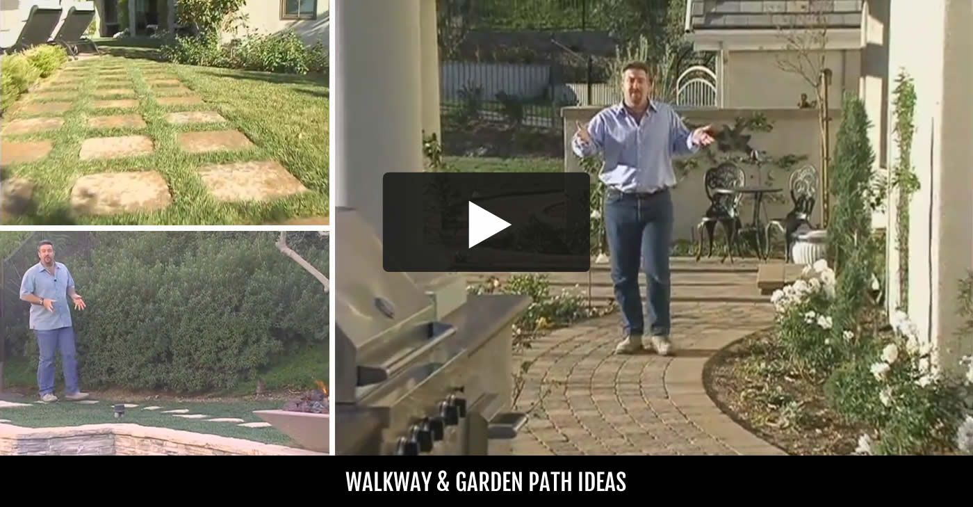 try a concrete sidewalk design for your garden walkway