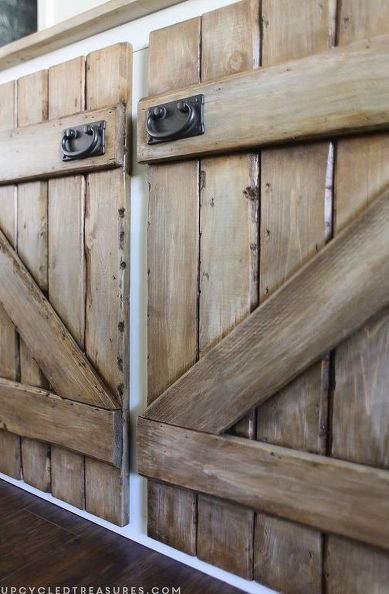 Upcycled Barnwood Style Cabinet Diy Cabinet Doors Rustic