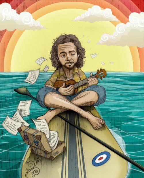 Eddie Vedder Artistas Dibujos Arte
