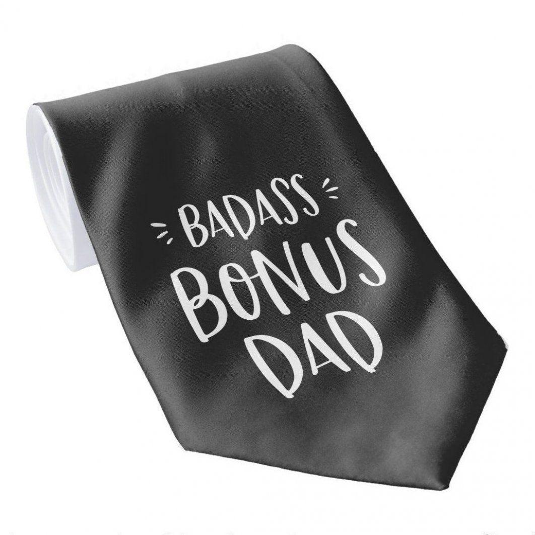 Badass bonus dad stepdad unique stepfather gift neck tie