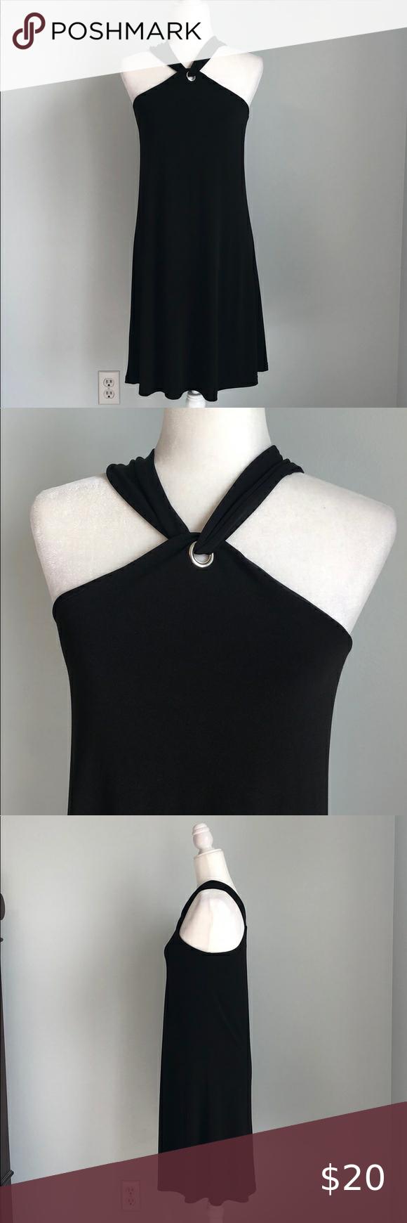 Cupio Twisted Neck Little Black Dress In 2021 Long Sleeve Casual Dress Little Black Dress Maxi Dress Blue [ 1740 x 580 Pixel ]