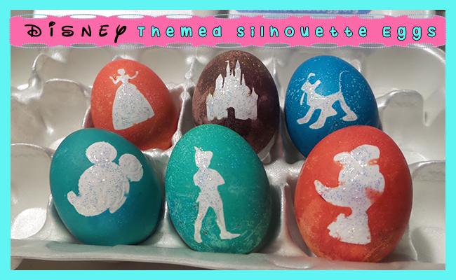 Disney Themed Silhouette Easter Eggs