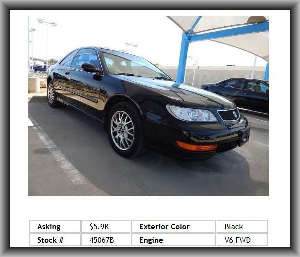 1999 Acura Cl 3 0 Coupe Independent Rear Suspension Front Hip Room 51 6 Cassette Player Double Wishbone Front Suspension Power Speed Rating Acura Coupe