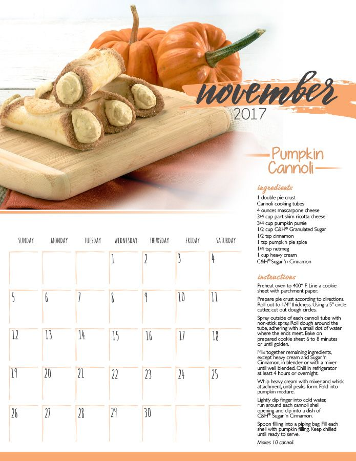 November Calendar Printable Make 2017 sweet all year long with our