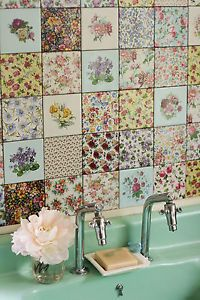 Details About Vintage Floral Ceramic Wall Tiles 1 Tile