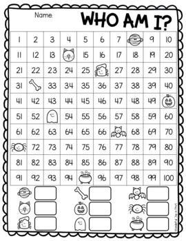 Halloween Missing Numbers Who Am I 1st Grade Math Worksheets Math Worksheets Kindergarten Math Counting