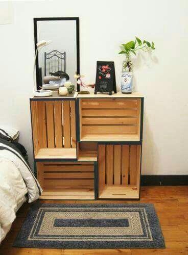 23 Muebles con cajas de madera de verduras