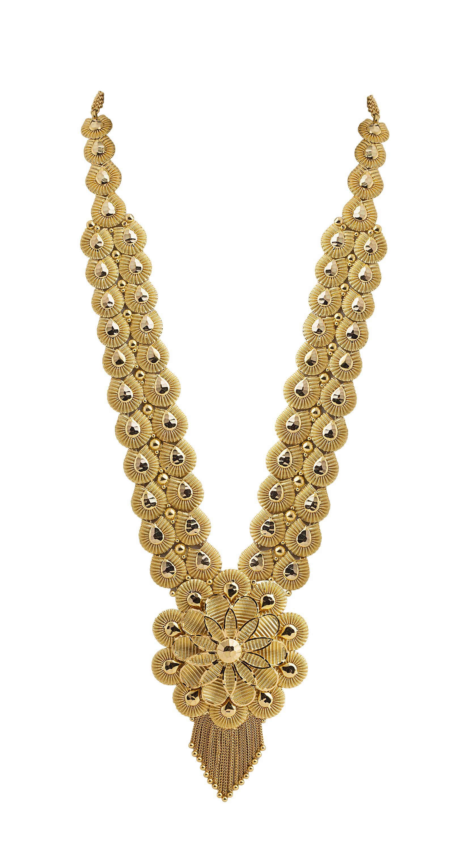 Excellent Flower design work Necklace with Gorgeous Meenakari ...