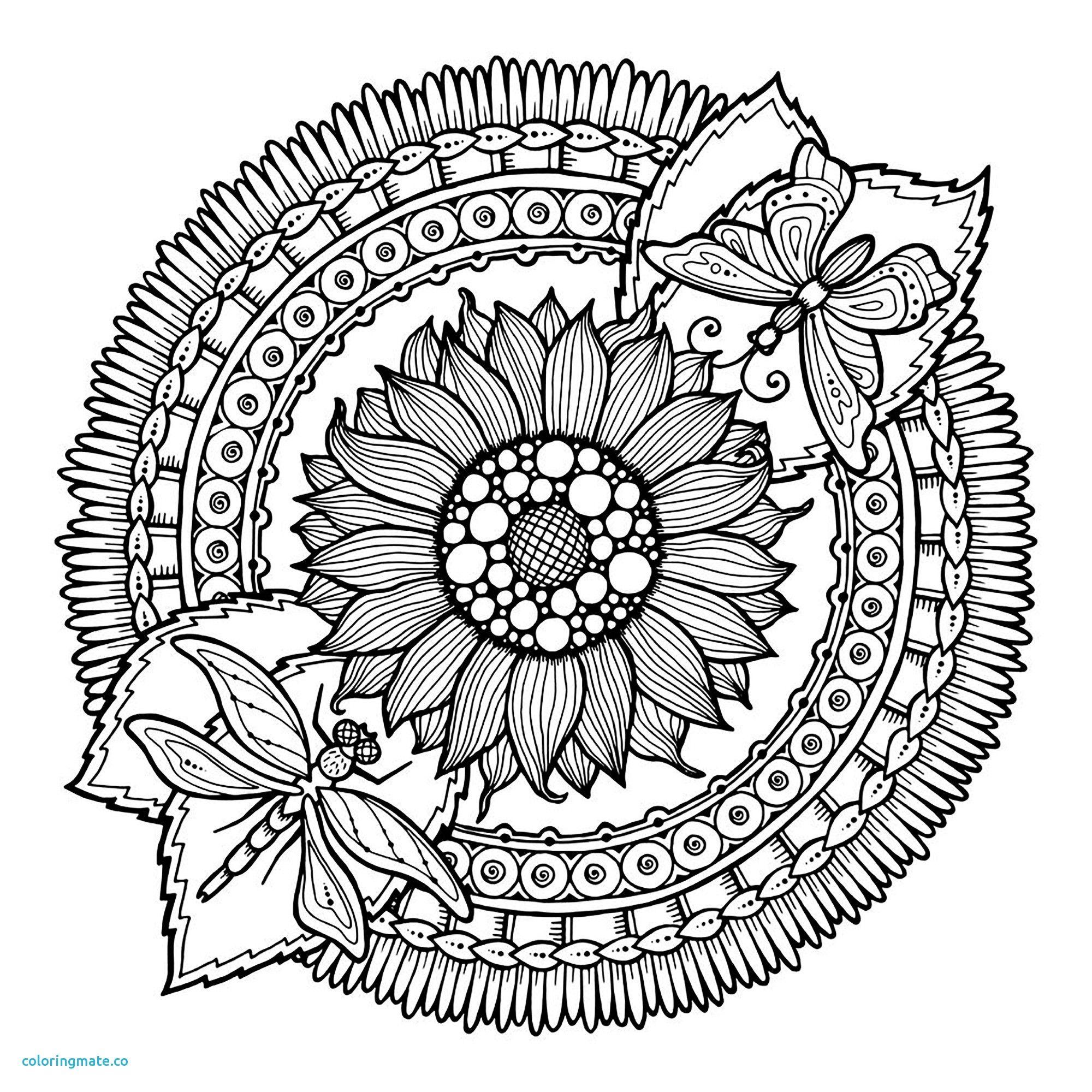 Facile Mandala Fleurs Et Papillon Coloriage Mandalas Of Coloriage