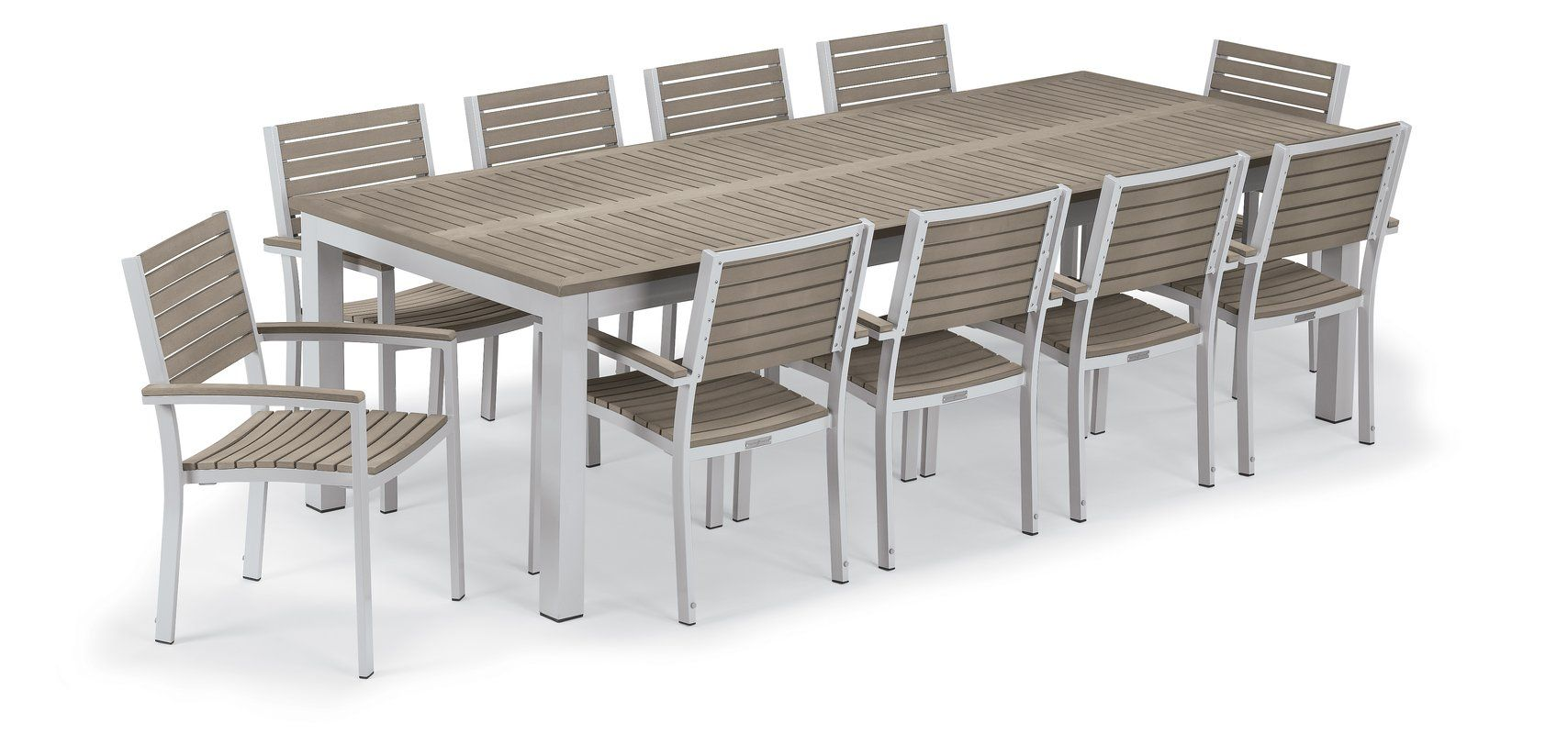 Maclin 11 Piece Dining Set Patio Dining Set Outdoor Furniture Sets Patio Dining Chairs