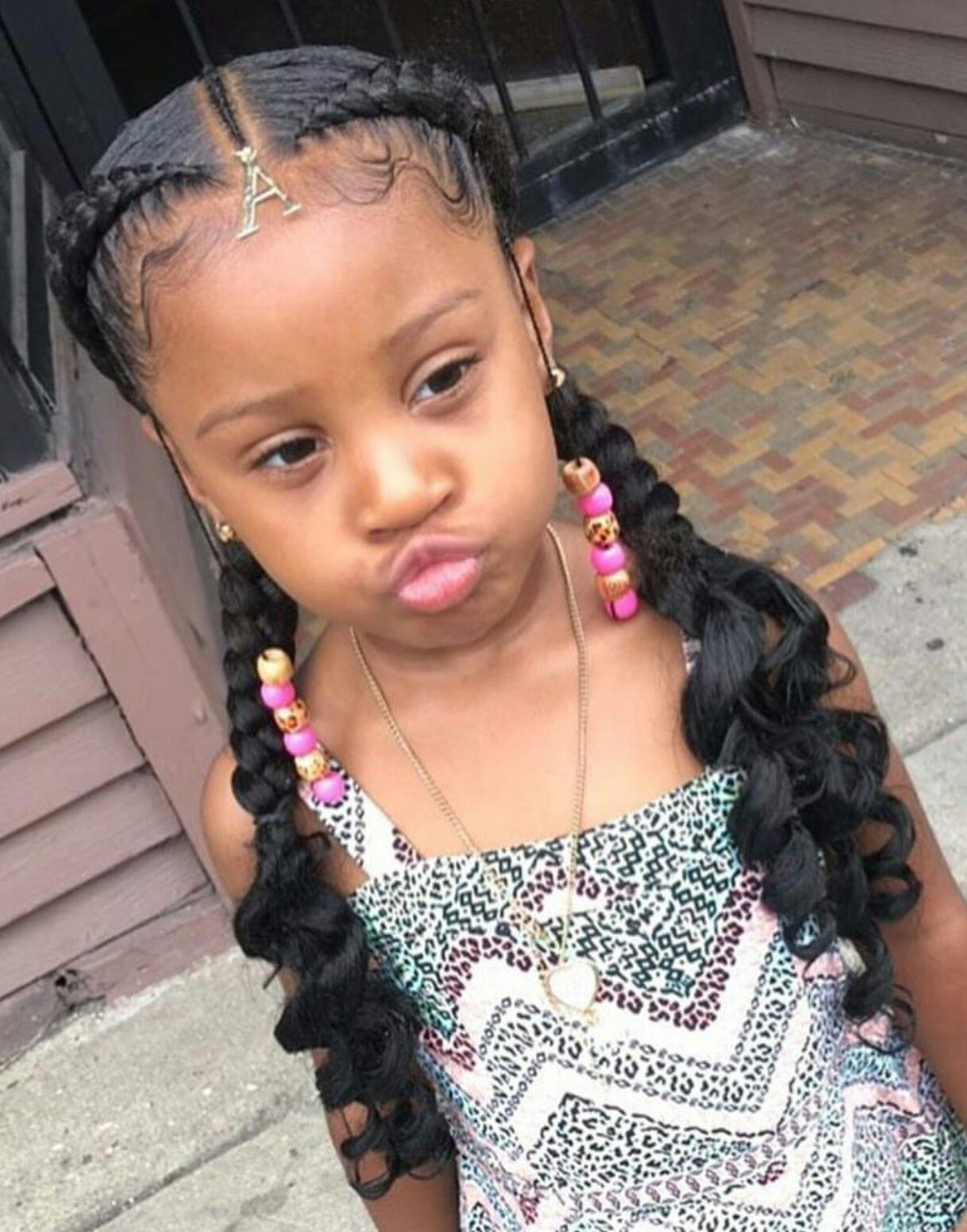 Cute And Charismatic Black Girl Hairstyles Toddler Braided