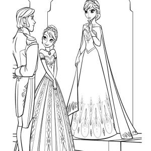 Princess Anna Introduse Prince Hans To Queen Elsa