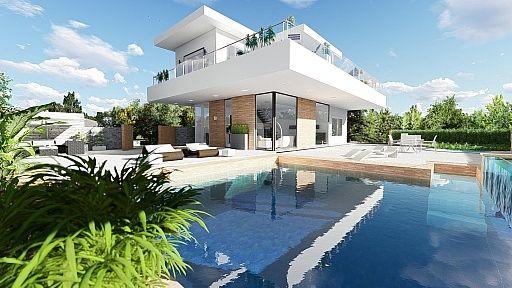 perspective 3d architecture - maisons contemporaines Dessin 3D - comment dessiner une maison en 3d