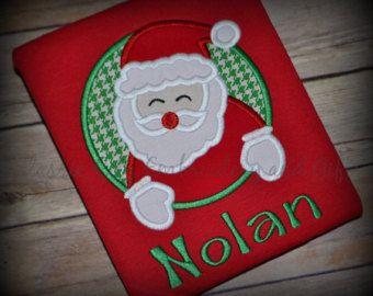 Christmas shirt,- boy Christmas shirt,- Santa Clause shirt,- Boy monogram winter,- winter shirt,- boy winter shirt,- Christmas sweater
