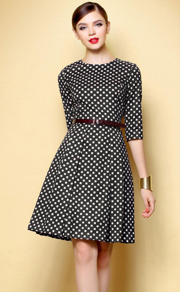 Black u white polka dot dress lovely wanted things pinterest