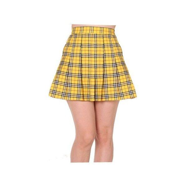 be8131d4b Yellow Tartan Skirt ❤ liked on Polyvore featuring skirts, tartan plaid skirt,  yellow skirts, plaid skirt, tartan skirt and yellow tartan skirt