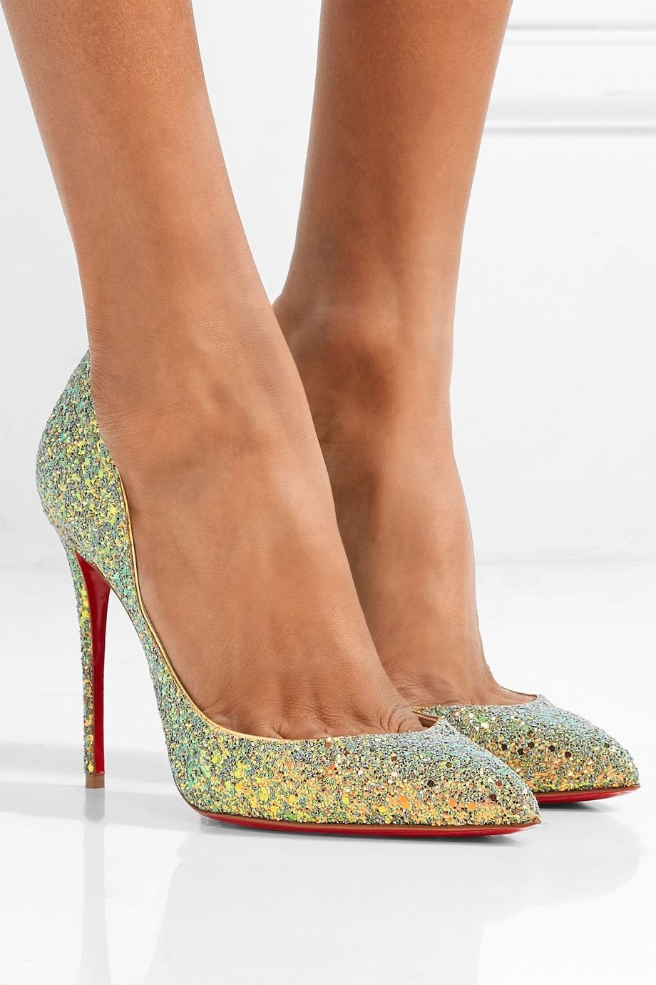651ea9f9d7a Christian Louboutin - Pigalle Follies Dragonfly 100 glittered ...