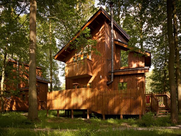 Bon One Bedroom Cabins At Sherwood Forest Complete With Juliet Balcony And  Private #hottub