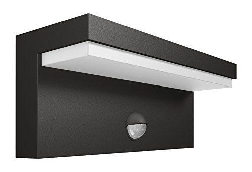Détection Applique Luminaire Led Gris Avec Philips Extérieur Bustan W9EDH2I
