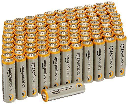 Amazonbasics Aa Performance Alkaline Batteries 100 Pack Alkaline Battery Batteries Battery Pack