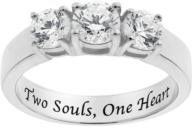 67a28bb2b Kohl's Cubic Zirconia Sterling Silver 3-Stone Promise Ring | Women's ...