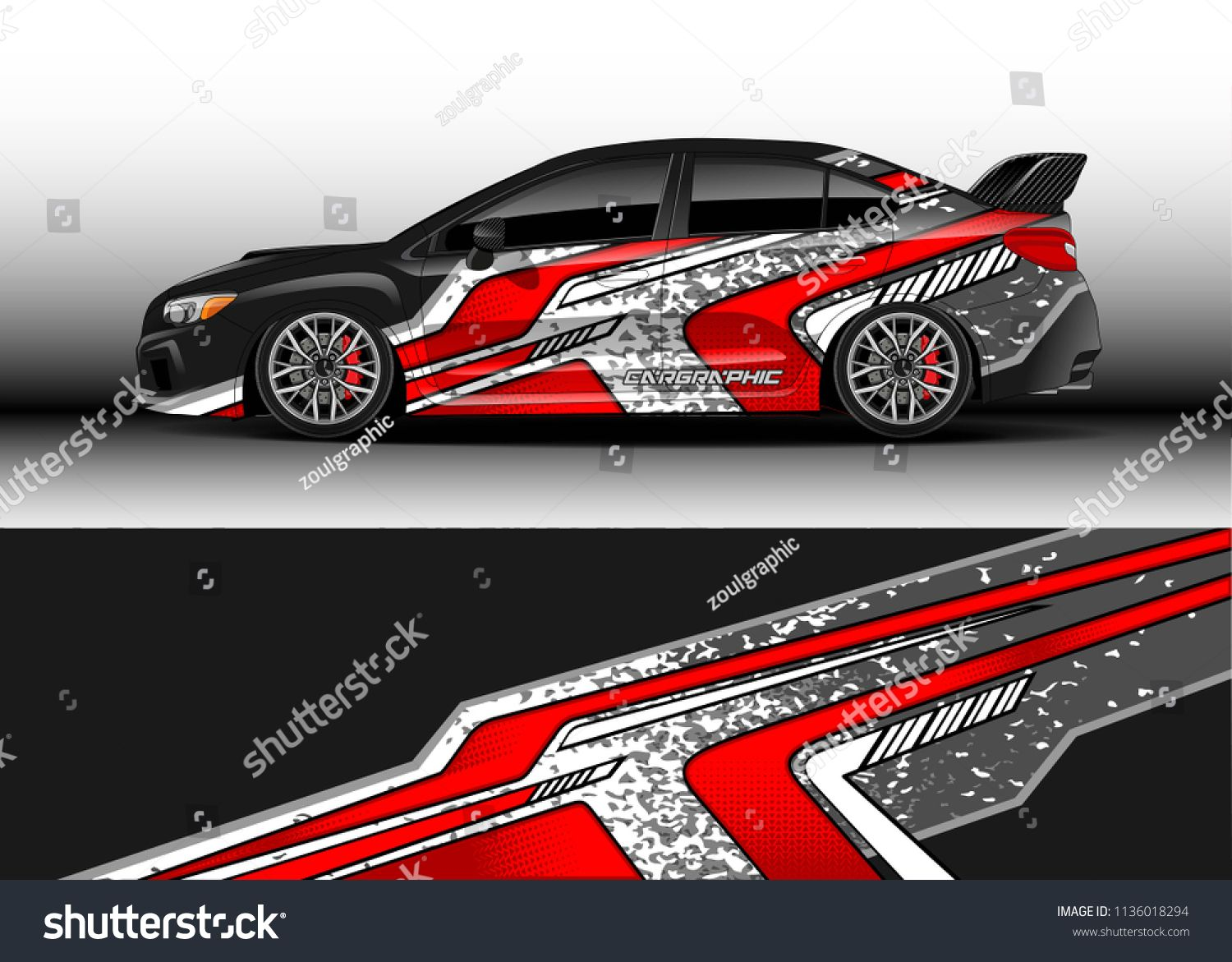Car decal graphic vector truck and cargo van wrap vinyl sticker graphic abstract stripe designs for branding and drift livery car