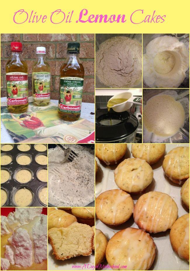 cupcake hechos de aceite de oliva y limon