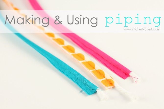 DIY Making and using Piping: can't find the right color of piping for your project?  Here is how to make your own.  www.makeit-loveit.com