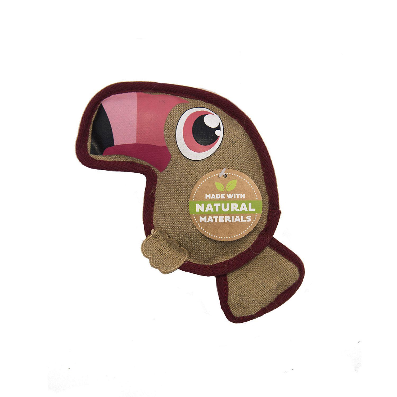 Outward Hound Naturalz Hemp Toucan Dog Toy Medium Durable Dog