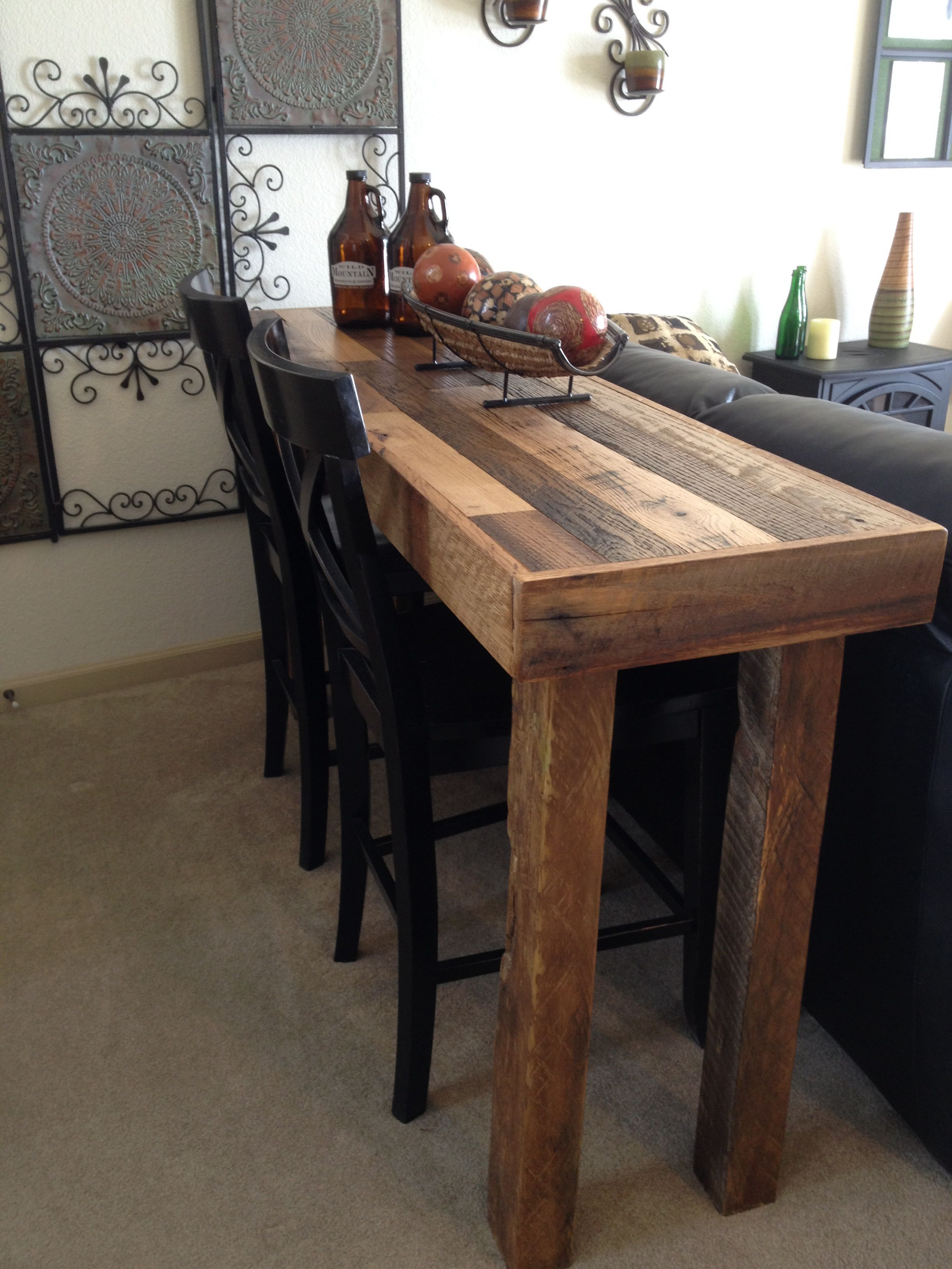 A Table I Made From Leftover Tongue And Groove Flooring