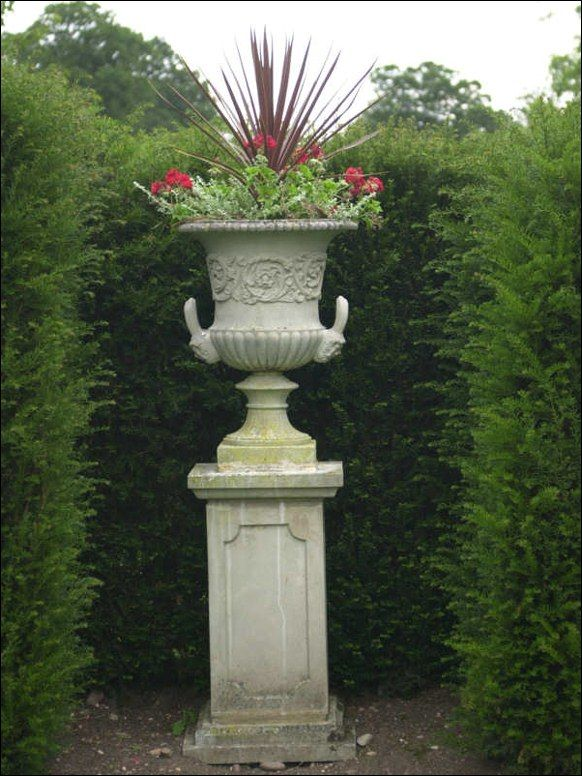 Landscaping With Urns : Would this work in the terracotta pots contained plants garden urns cast stone